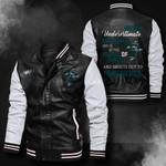 Bomber Leather Jacket - NTAT00026