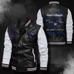 Bomber Leather Jacket - NTAT00023