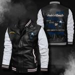 Bomber Leather Jacket - NTAT00017