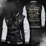 Bomber Leather Jacket - NTAT00022