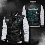 Bomber Leather Jacket - NTAT00019