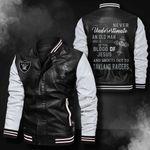 Bomber Leather Jacket - NTAT00025