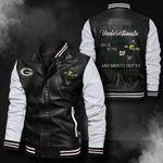 Bomber Leather Jacket - NTAT00012