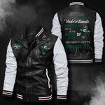 Bomber Leather Jacket - NTAT00024