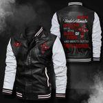 Bomber Leather Jacket - NTAT00030