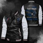 Bomber Leather Jacket - NTAT00013