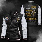 Bomber Leather Jacket - NTAT00027