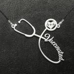 Vaccinated Handmade 925 Sterling Silver Pendant Necklace