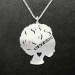 Black queen Handmade 925 Sterling Silver Pendant Necklace
