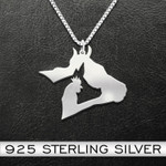 Cow Pig Chicken Handmade 925 Sterling Silver Pendant Necklace
