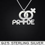 LGBT Pride Handmade 925 Sterling Silver Pendant Necklace