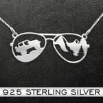 Adventure Jeep Handmade 925 Sterling Silver Pendant Necklace