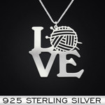 Love Knitting Handmade 925 Sterling Silver Pendant Necklace