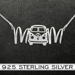Hippie Mom Van Handmade 925 Sterling Silver Pendant Necklace