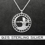 Zodiac Sagittarius Handmade 925 Sterling Silver Pendant Necklace