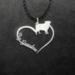 Pug Grandma Handmade 925 Sterling Silver Pendant Necklace