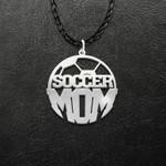 Soccer Mom Soccer Ball Handmade 925 Sterling Silver Pendant Necklace