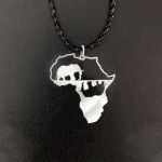 Black Africa Continental Elephant Handmade 925 Sterling Silver Pendant Necklace