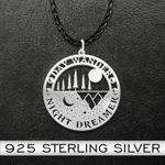 Day Wander Night Dreamer Necklace Handmade 925 Sterling Silver Pendant Necklace