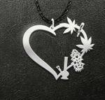 Weed leaf item Handmade 925 Sterling Silver Pendant Necklace