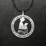 Reading Into Bookstore I Go To Lose My Mind And Find My Soul Handmade 925 Sterling Silver Pendant Necklace