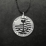 This woman is protected by a navy veteran Handmade 925 Sterling Silver Pendant Necklace