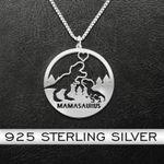 Mamasaurus Rex Handmade 925 Sterling Silver Pendant Necklace