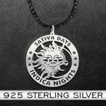 Weed sativa days indica nights Handmade 925 Sterling Silver Pendant Necklace