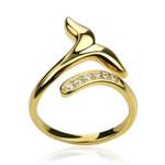 Mermaid Tail Handmade 925 Sterling Silver Gold Plating Ring