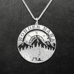Camping Wonder Nana Handmade 925 Sterling Silver Pendant Necklace