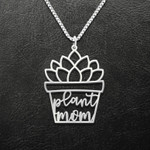 Plant Mom Succulent Mother's Day Gift Handmade 925 Sterling Silver Pendant Necklace