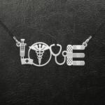 Nurse Love Handmade 925 Sterling Silver Pendant Necklace