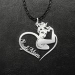 Strong Woman Single Mom Handmade 925 Sterling Silver Pendant Necklace