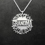 Flower Grandma Handmade 925 Sterling Silver Pendant Necklace