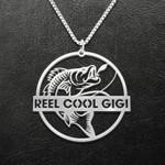 Fishing Reel Cool Gigi Handmade 925 Sterling Silver Pendant Necklace