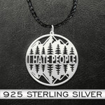 Camping forest i hate people Handmade 925 Sterling Silver Pendant Necklace
