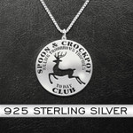 Hunting Spoon & Crockpot Handmade 925 Sterling Silver Pendant Necklace