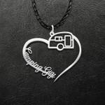 Camping Gigi Heart Handmade 925 Sterling Silver Pendant Necklace