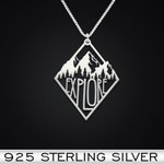 Explore Handmade 925 Sterling Silver Pendant Necklace