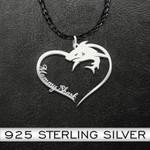 Mommy shark Handmade 925 Sterling Silver Pendant Necklace