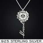 Daisy Blessed Mom Handmade 925 Sterling Silver Pendant Necklace