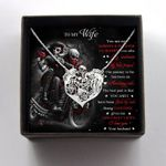 Skull couple kissing motorcycle Handmade 925 Sterling Silver Pendant Necklace