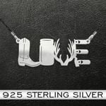 Hunting Love Handmade 925 Sterling Silver Pendant Necklace