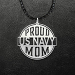 Navy Proud US Navy Nana Handmade 925 Sterling Silver Pendant Necklace