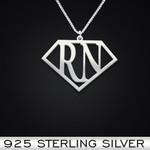 Super Registered Nurse Handmade 925 Sterling Silver Pendant Necklace