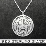 Camping And Into The Forest I Go To Lose My Mind And Find My Soul Handmade 925 Sterling Silver Pendant Necklace