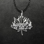 Weed World's Dopest Dad Handmade 925 Sterling Silver Pendant Necklace