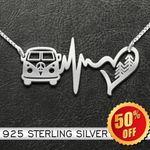 Volkswagen Hippie 925 Sterling Silver Necklace