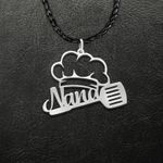 Chef Nana Chef Hat Handmade 925 Sterling Silver Pendant Necklace