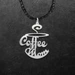 Coffee Cup Mom Mother's Day Gift Handmade 925 Sterling Silver Pendant Necklace